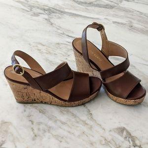 Franco Sarto Cork Wedge Sandals